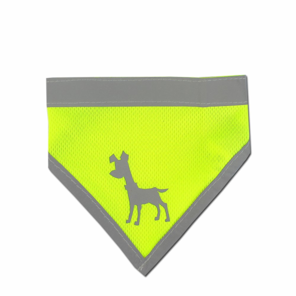 Alcott Reflexní šátek pro psy, žlutý, velikost S