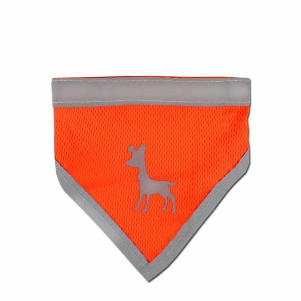 Alcott Reflexní šátek pro psy, oranžový, velikost S