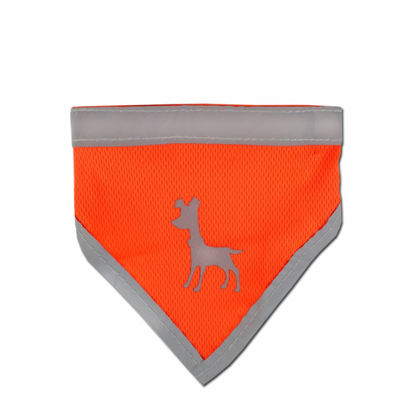 Alcott Reflexní šátek pro psy, oranžový, velikost M