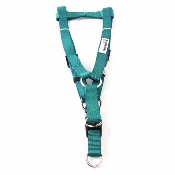 Doodlebone lehký postroj, modrý/zelený, velikost XL