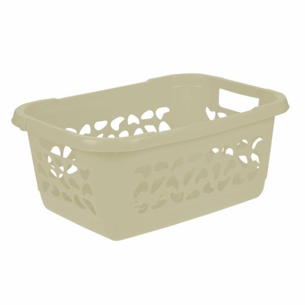 Keeeper Koš na čisté prádlo jost, krémový 32l