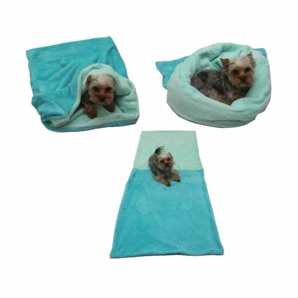 Marysa pelíšek 3v1 pro psy, tmavě tyrkysový/světle tyrkysový, velikost XL