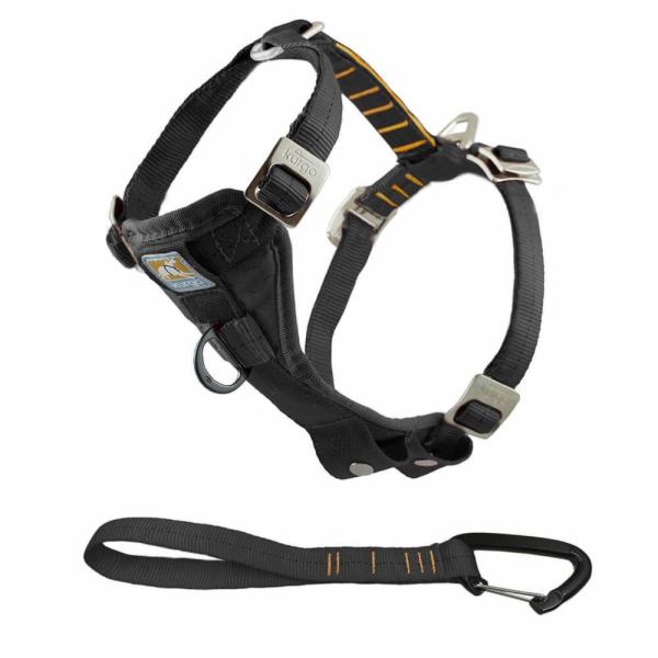 Kurgo Bezpečnostní postroj pro psa s autopásem, černá, S