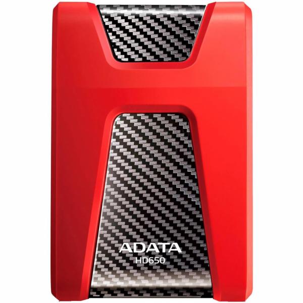 Externí disk ADATA DashDrive Durable HD650 AHD650-1TU3-CRD červený