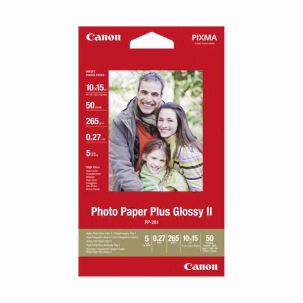 Canon PP-201 10x15 cm, 50 listu foto papir lesk Plus II 265 g