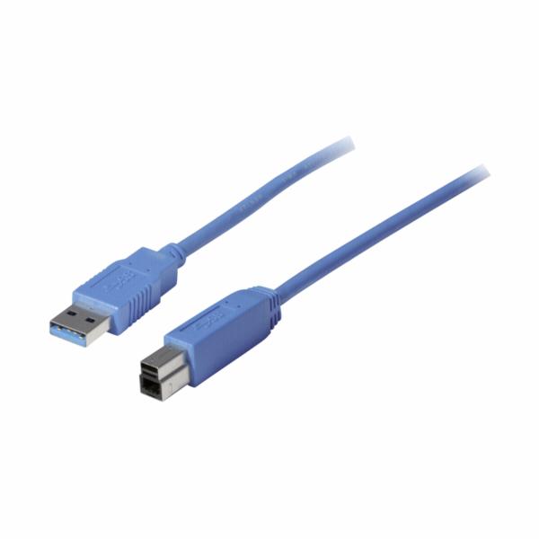Vedimedia USB 3.0 A/B Kabel 1,0 m modra