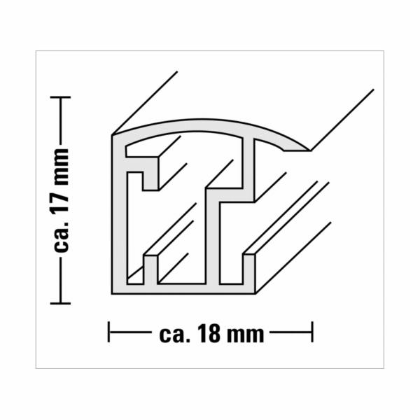 Hama Malaga stribrna 15x20 plast 58526