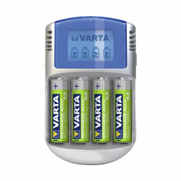 Varta LCD Charger 12V USB inkl. 4 Akkus 2500 mAh Mignon AA