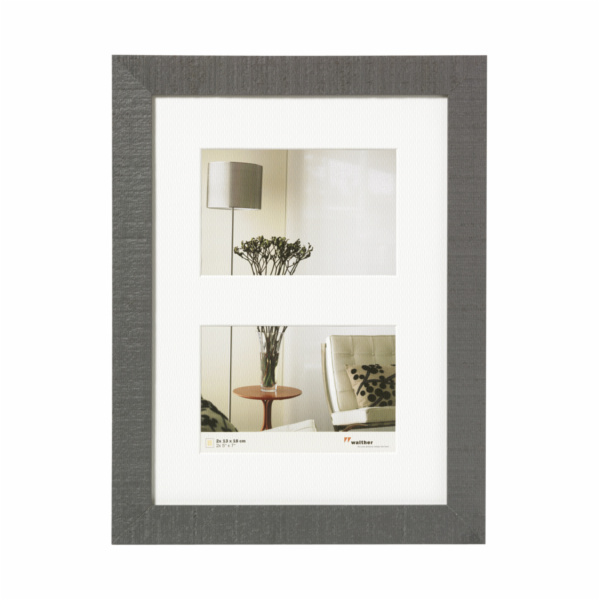 Rámeček Walther Home 2x13x18 dřevo, šedý