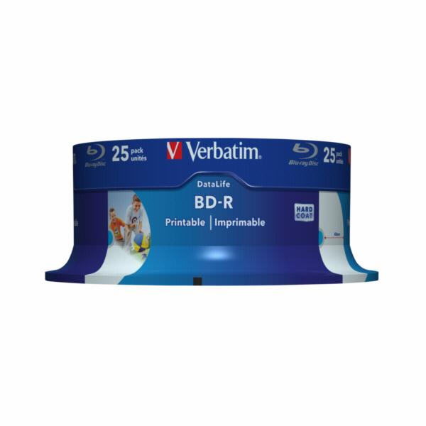 1x25 Verbatim BD-R Blu-Ray 25GB 6x Speed DL Wide Printable CB