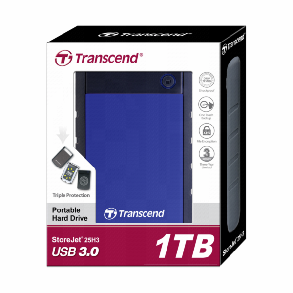 Transcend StoreJet 25H3 2,5 1TB USB 3.1 Gen 1