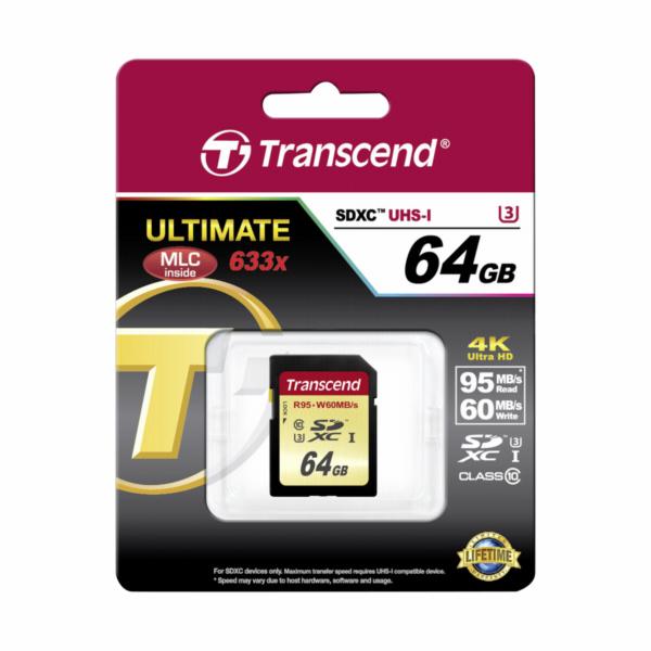 Transcend SDXC 64GB Class 10 UHS-I U3 Ultimate