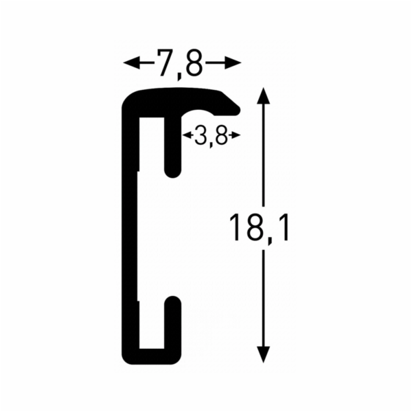 Nielsen Accent 24x30 hlinik stribrna 52223