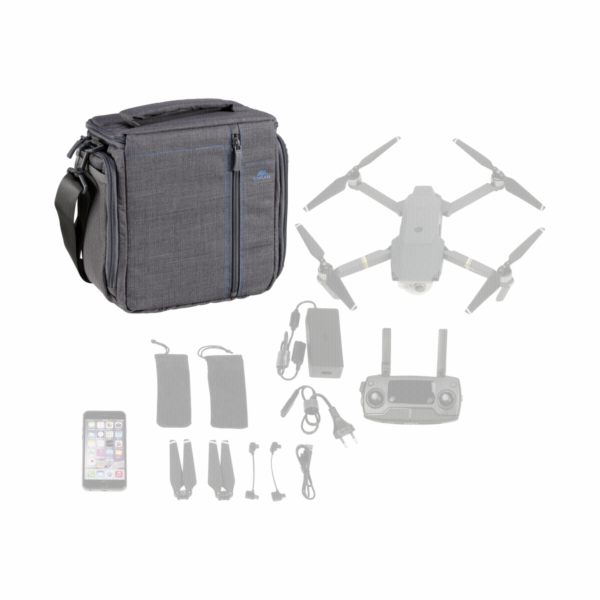 Rivacase Drone Bag M 7555 grey for DJI Mavic Pro
