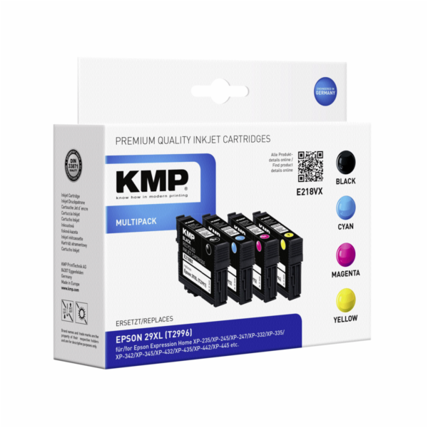 KMP E218VX Multipack BK/C/M/Y kompatibilni s Epson T 2996 XL