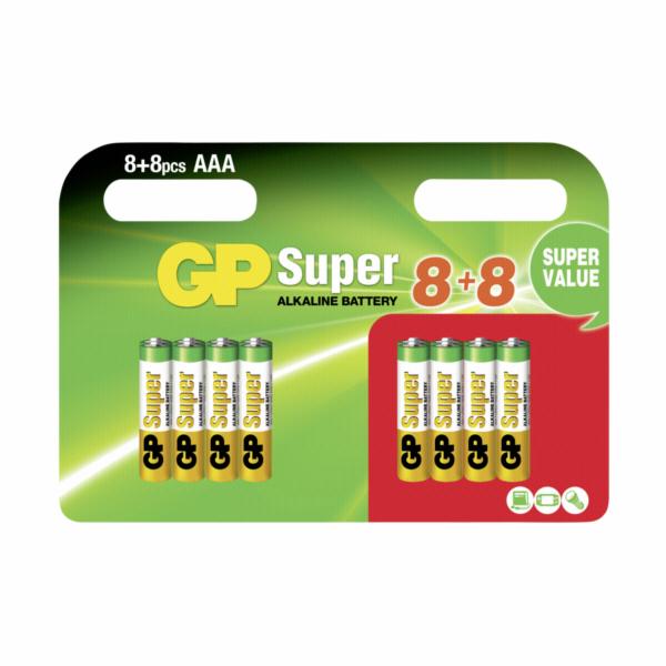 8+8 GP Super Alkaline AAA LR03