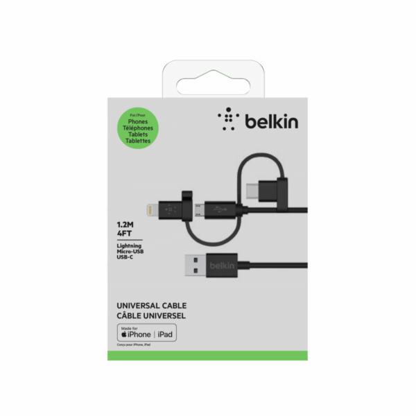 Belkin MIXIT univerzalni kabel Lightning, Micro-USB, USB-C 1,2m