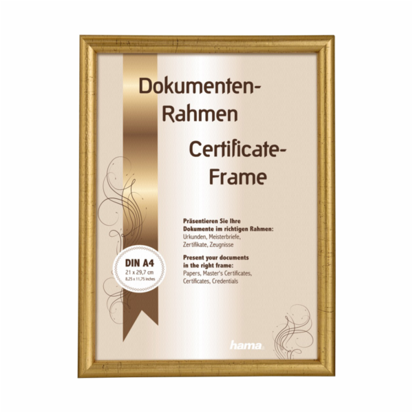 Hama Oregon gold 21x29,7 Wooden Frame DIN A4 64712
