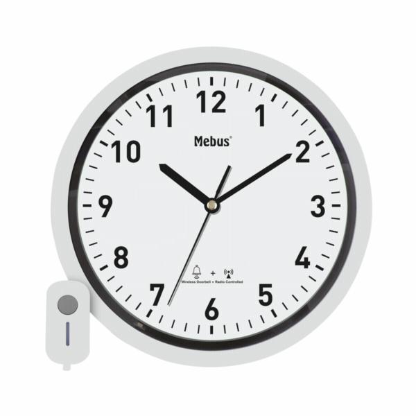 Mebus 41824 nástenné hodiny DCF s dverním zvonkem