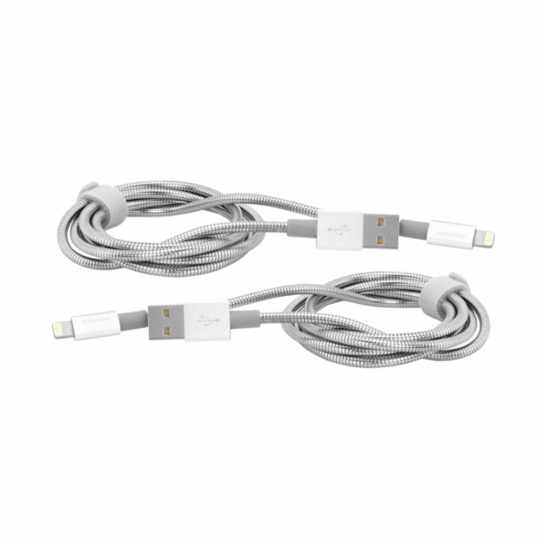 1x2 Verbatim Lightning Cable Sync & Charge 100cm silver
