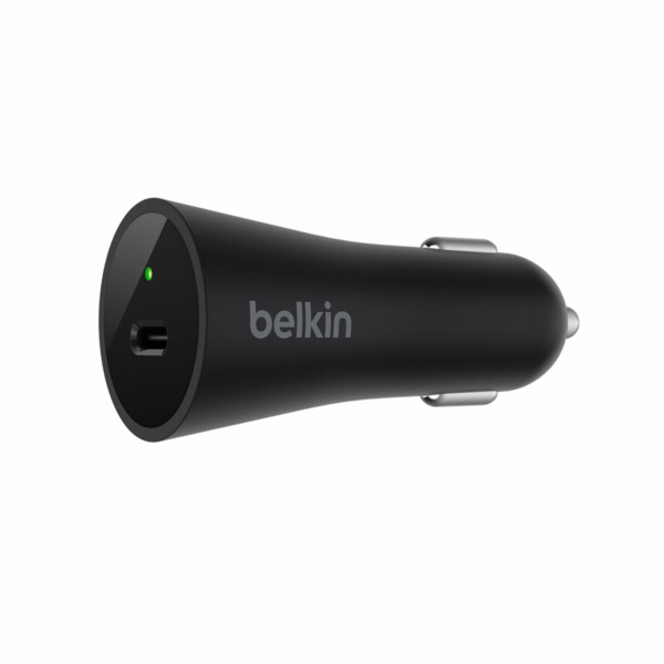 Belkin Car Charger USB-C 27W 9V/12V Power Delivey F7U071btBLK