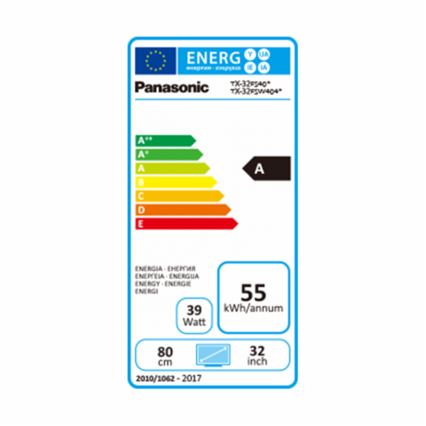 Panasonic TX-32FSW404 sw LED-TV HD DVB-T2/C/S2 USB Rec. Smart Rec. Smart