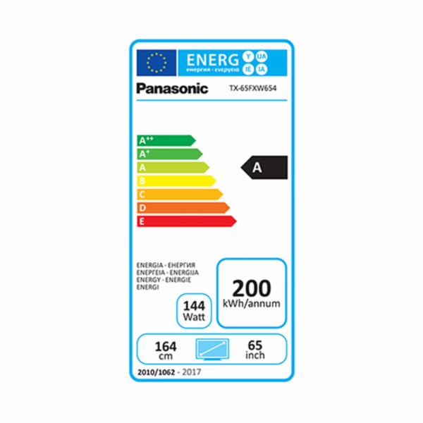 Panasonic TX-65FXW654 Glossy Black with Silver Line