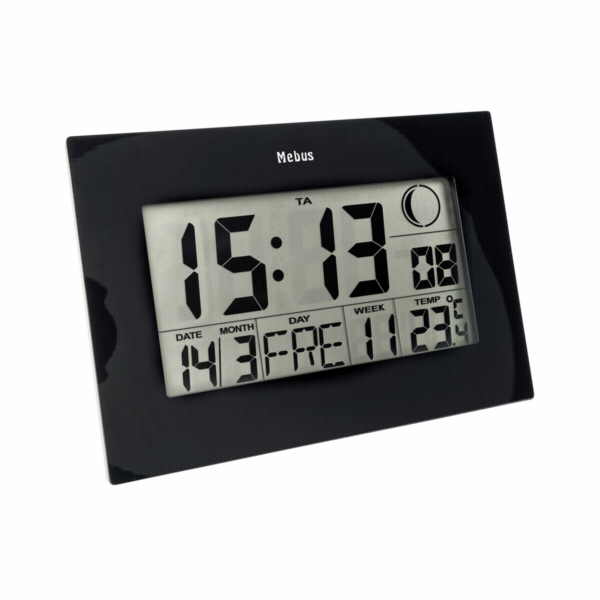 Mebus 46732 nástenné hodiny DCF digital