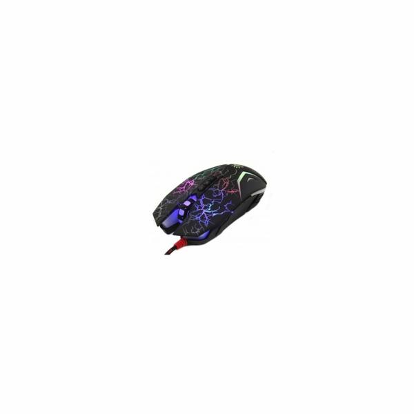 A4tech BLOODY N50 Neon herní myš, USB, CORE 3, až 4000DPI, černá