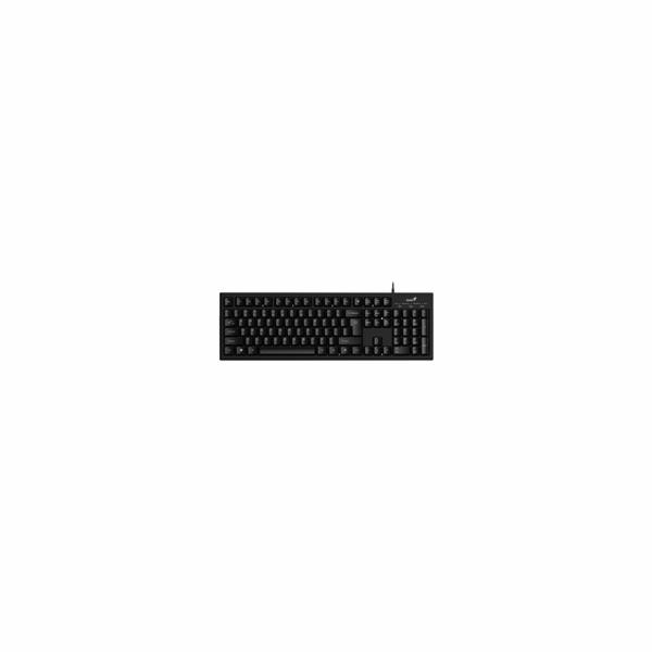 GENIUS Smart KB-100/ Drátová/ USB/ černá/ CZ+SK layout/ SmartGenius App