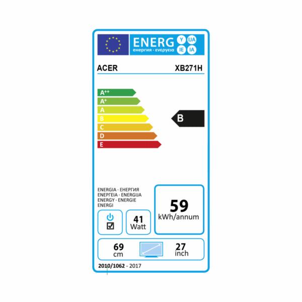 "Acer XB271HABMIPRZX LCD Predator 27"" LED FHD 1920 x 1080/100M:1/1ms / HDMI, DP, USB3.0 Hub /G-Sync /repro/ Black"