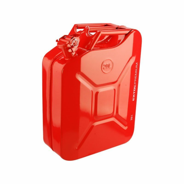 Kanystr ocelový na benzín, 20l EXTOL PREMIUM
