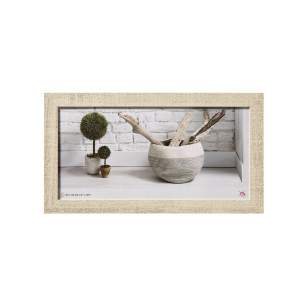Walther Home 20x40 Wooden Frame cream HO240W