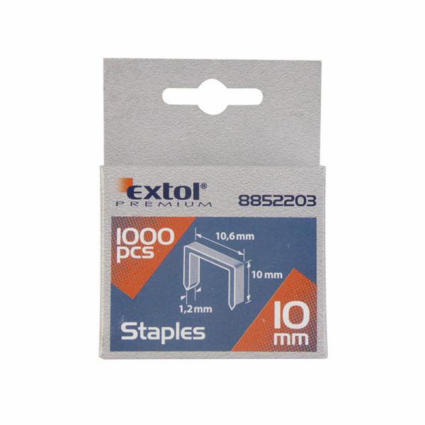 Spony, balení 1000ks, 6mm, 11,3x0,52x0,70mm EXTOL PREMIUM