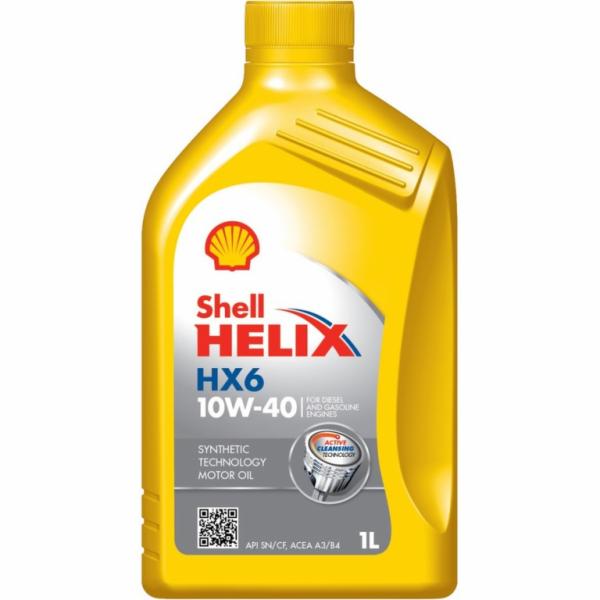 Motorový olej HX6 10W-40 1L SHELL