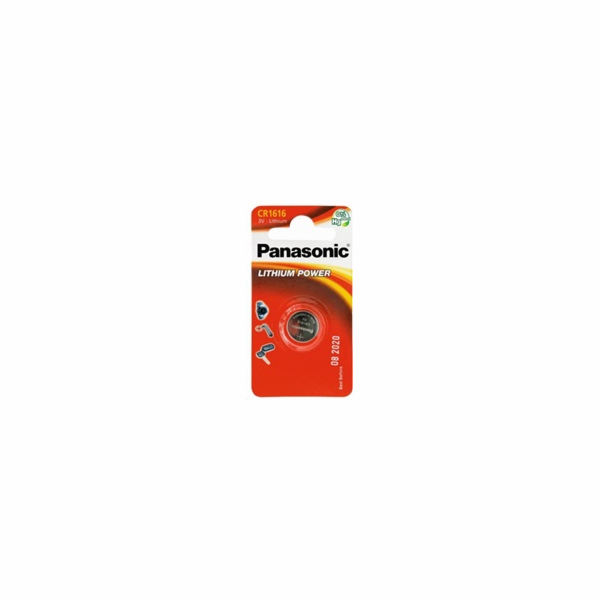 PANASONIC Lithiová baterie (knoflíková) CR-1616EL/1B 3V (Blistr 1ks)