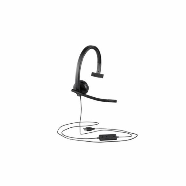 Logitech® UC Corded Mono USB Headset H570e (Leatherette Pad) - Business EMEA