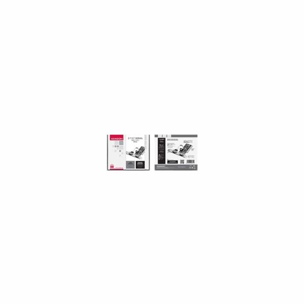 AXAGON PCIA-S2, PCI adaptér - 2x sériový port (RS232), vč. LP