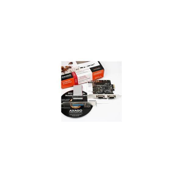 AXAGON PCEA-SP, PCIe adaptér - 2x sériový port (RS232) + 1x paralelní (LPT)