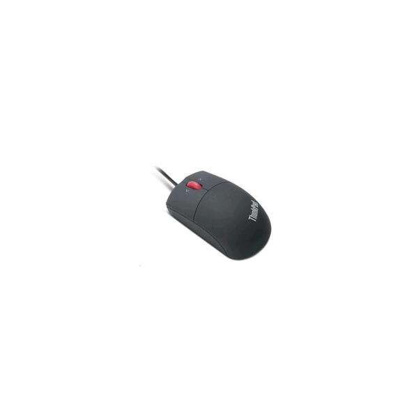 LENOVO myš drátová Laser Mouse - 1600dpi, Laser, USB, 3 tlačítka, černá