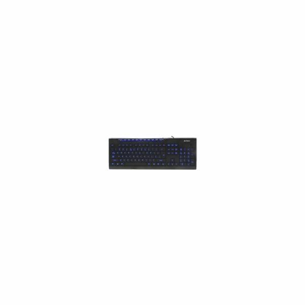 A4tech multimediální klávesnice KD-800L modře podsvícená, CZ/US, USB