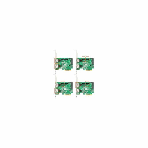 AXAGON PCES-SH4, PCIe 2-Lane řadič - 4x int./2x ext. SATA 6G HyperDuo
