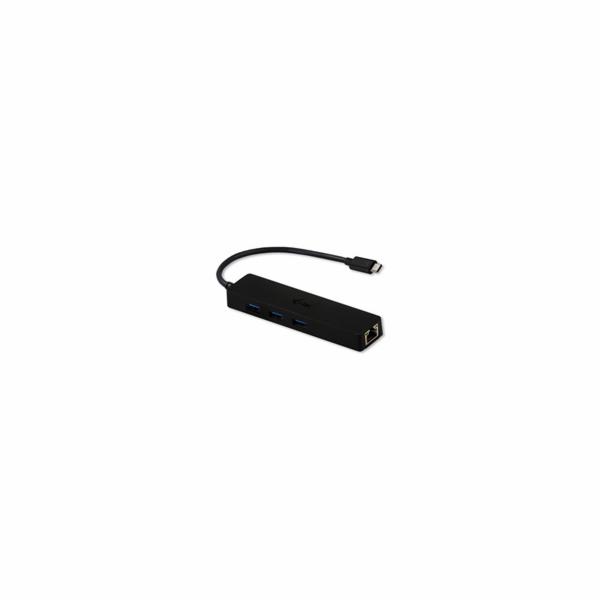 iTec USB-C 3.1 Slim 3-portový HUB + RJ-45