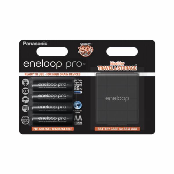 1x4 Panasonic Eneloop Pro Mignon AA 2500 mAh + Akkubox