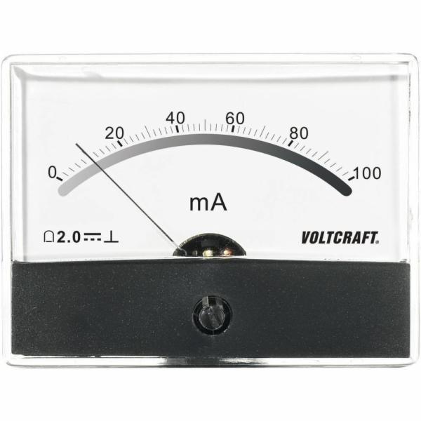 Analogové panelové měřidlo VOLTCRAFT AM-86X65/100MA 100 mA CONRAD