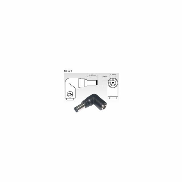 AVACOM nabíjecí Jack pro Notebooky C24 (7,4mm x 5,1mm pin) pro HP/Compaq