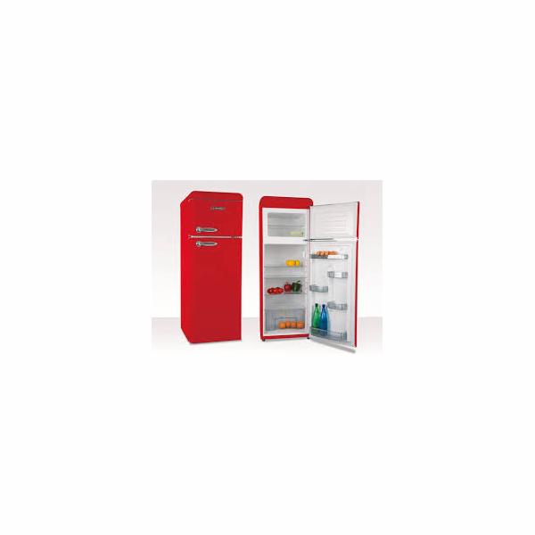 Chladnička Schneider SDD 208V2 R červená