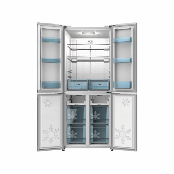 Chladnička Schneider SCD400A++NF IX stříbrná
