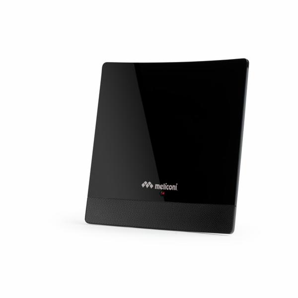 TV anténa Meliconi, 881013, AT 52, pokojová,52 dB, LTE filtr, FullHD, VHF, UHF, adaptér AC/DC