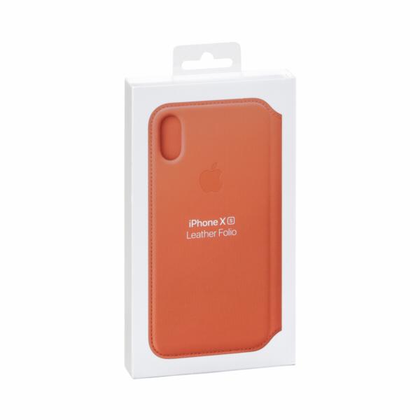 Apple iPhone XS Leather Folio Sunset
